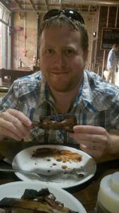 me eating rib